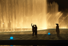 Photo of Palm Jumeirah's own dancing fountain