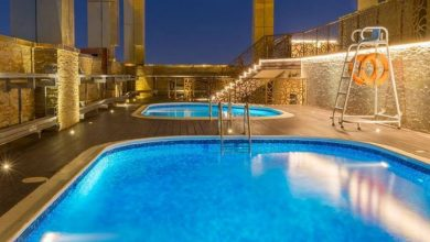 Photo of Dive in to Gevora Hotel's skyscraper pool