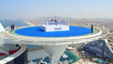 Photo of Watch Anthony Joshua training on the helipad of the Burj Al Arab